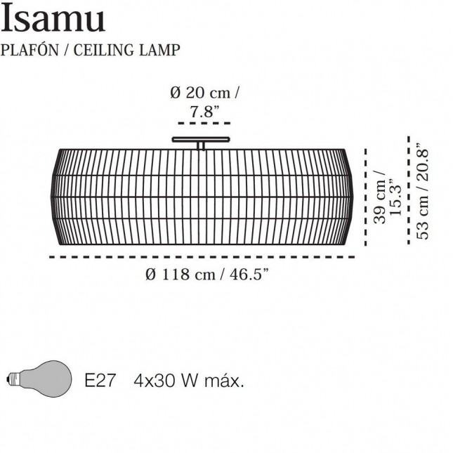 ISAMU PLAFFONIER DE CARPYEN