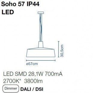 SOHO 57 IP44 BY MARSET