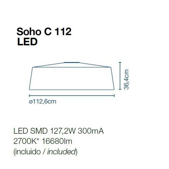 SOHO C112 PLAFON DE MARSET