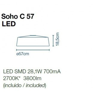 SOHO C57 PLAFON DE MARSET