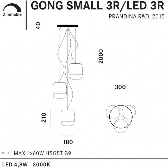 GONG SMALL 3R BY PRANDINA