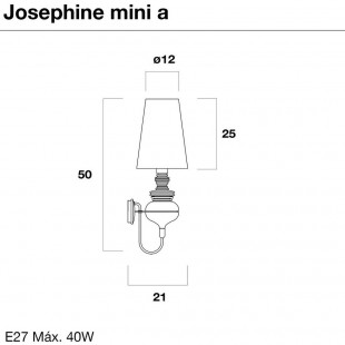 JOSEPHINE WALL LAMP BY METALARTE