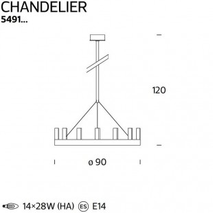 CHANDELIER DE FONTANA ARTE
