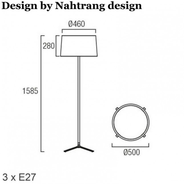 HALL LAMPADAIRE DE LEDS C4