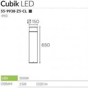 CUBIK LED BOLLARD BY LEDS C4