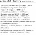 ATTICUS P/01 BATTERY DE BOVER