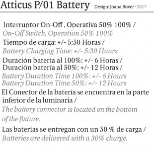 ATTICUS P/01 BATTERY BY BOVER