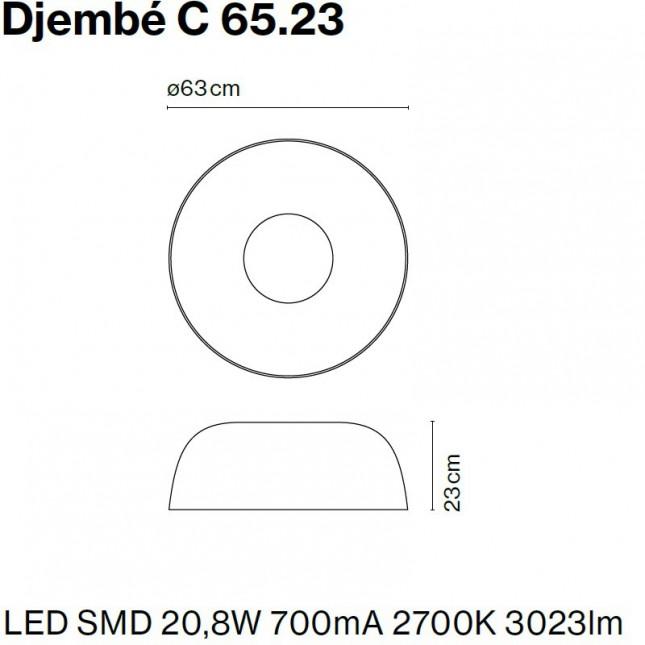DJEMBE PLAFÓN Ø65 DE MARSET