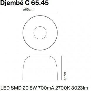 DJEMBE PLAFFONIER Ø65 DE MARSET