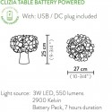 CLIZIA TABLE, BATTERY POWERED BY SLAMP