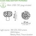 CLIZIA TABLE, BATTERY POWERED DE SLAMP