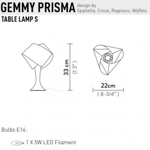 GEMMY PRISMA SOBREMESA DE SLAMP
