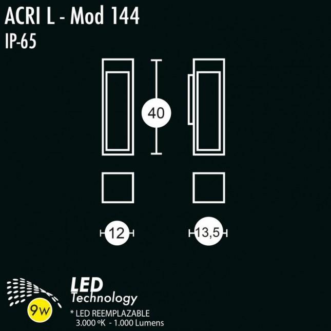 ACRI 144 WALL LAMP BY GREENART