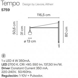 TEMPO APLIQUE 5758 / 5759 DE VIBIA