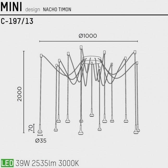 MINI C-197/13 BY PUJOL ILUMINACION