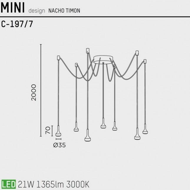 MINI C-197/7 BY PUJOL ILUMINACION