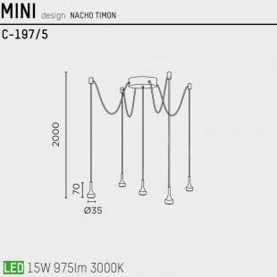 MINI C-197/5 BY PUJOL ILUMINACION