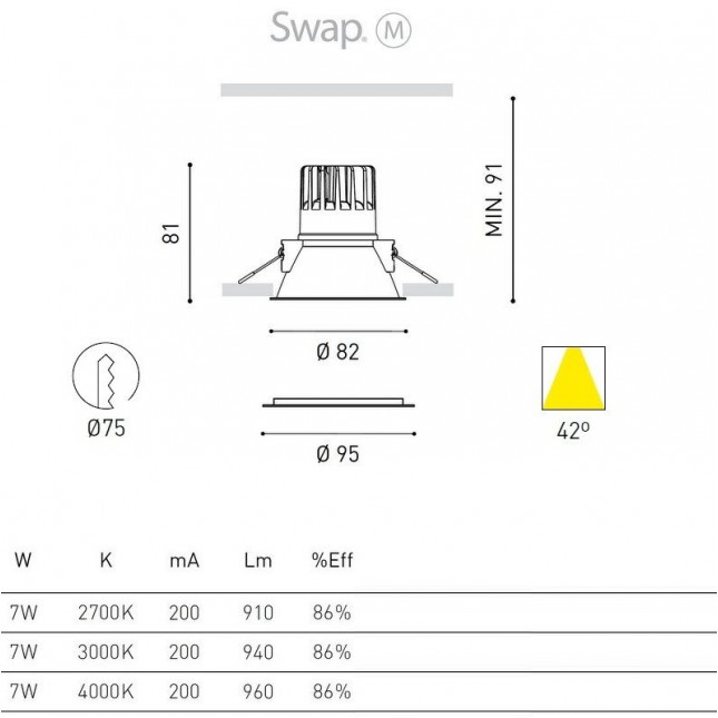 SWAP M 7W BY ARKOS LIGHT