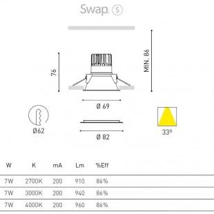 SWAP S 7W BY ARKOS LIGHT
