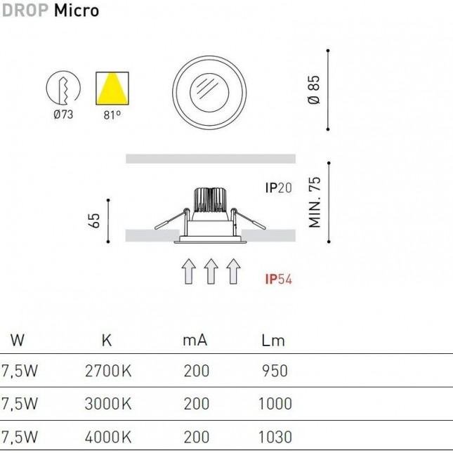 DROP MICRO MATT 7,5W DE ARKOS LIGHT