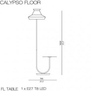 CALYPSO LAMPADAIRE GUADALOUPE OUTDOOR DE CONTARDI