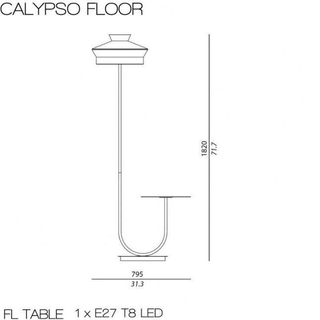 CALYPSO LAMPADAIRE MARTINIQUE OUTDOOR DE CONTARDI