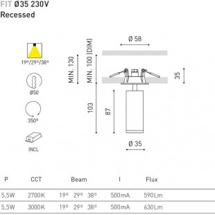 FIT 35 RECESSED BY ARKOS LIGHT