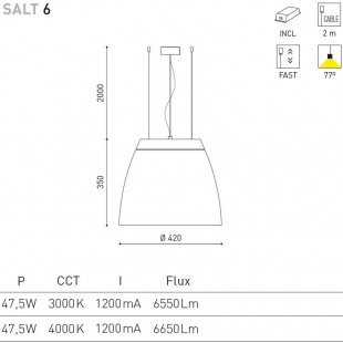 SALT 6 - 47,5W DE ARKOS LIGHT