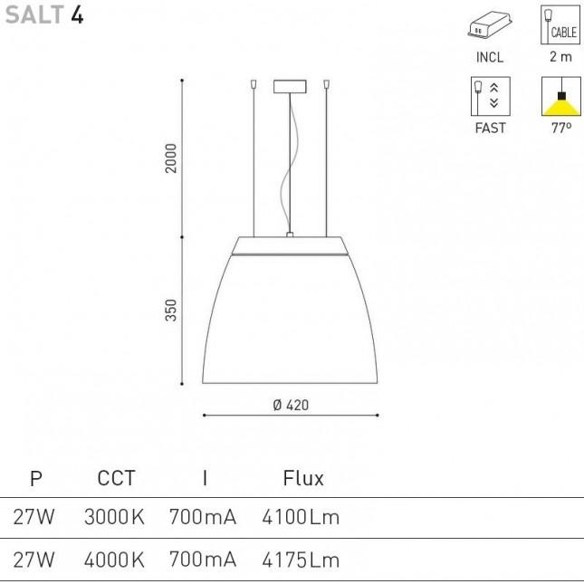 SALT 4 - 27W DE ARKOS LIGHT