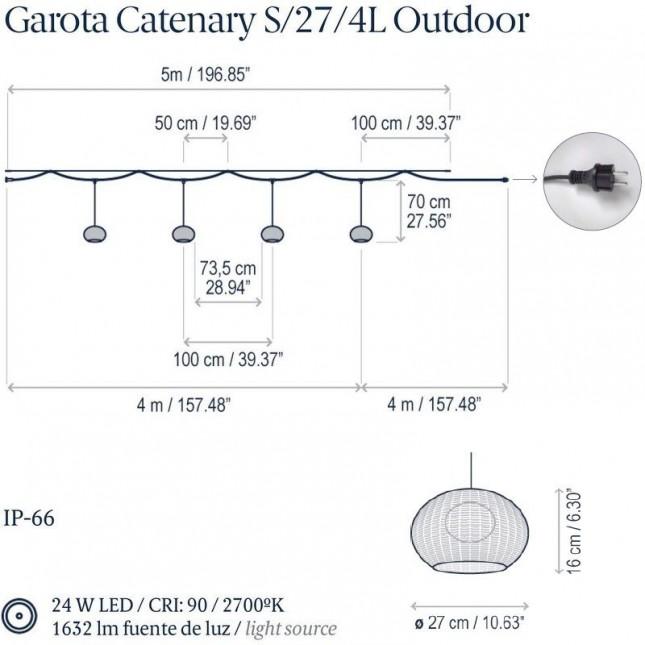 GAROTA CATENARY S/27/4L OUTDOOR DE BOVER