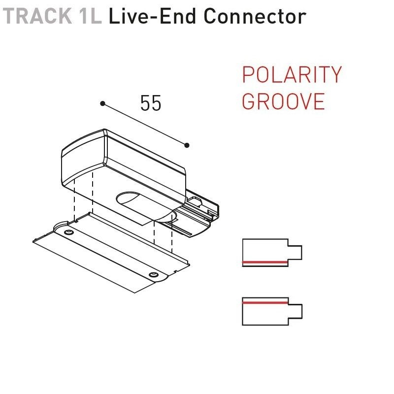 TRACK 1L RECESSED - ACCESSORIES BY ARKOS LIGHT