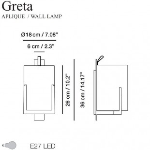 GRETA WALL LAMP BY CARPYEN