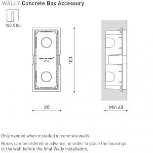WALLY CONCRETE BOX BY ARKOS LIGHT