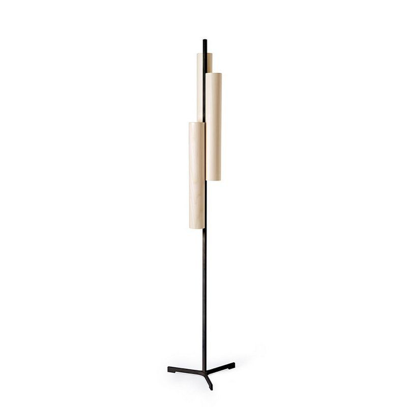 BLACK NOTE TRIPLET FLOOR LAMP BY LZF