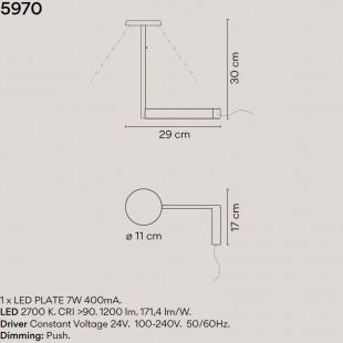 FLAT LAMPARA MESA 5970 DE VIBIA