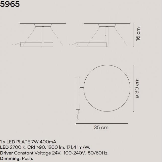 FLAT LAMPARA MESA 5965 DE VIBIA