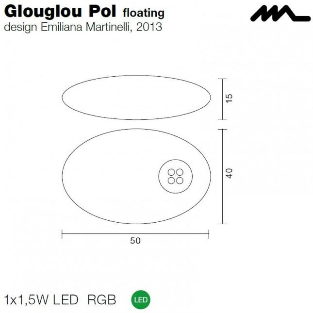 GLOUGLOU POL 822 BY MARTINELLI LUCE