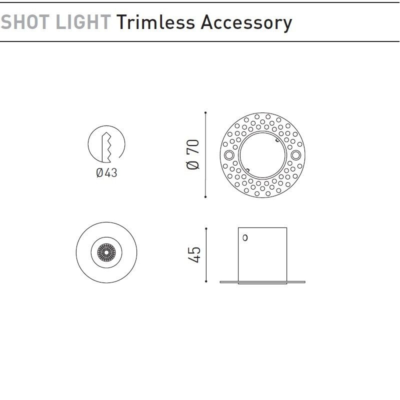 SHOT LIGHT TRIMLESS ACCESSORIES BY ARKOS LIGHT