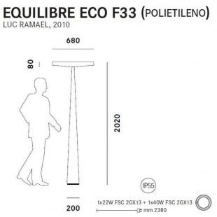 EQUILIBRE ECO F33 IP55 DE PRANDINA