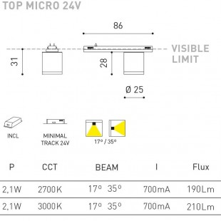 TOP MICRO 24V BY ARKOS LIGHT