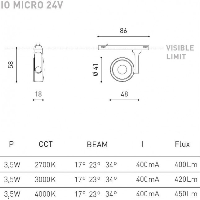 SIX XS 24V BY ARKOS LIGHT