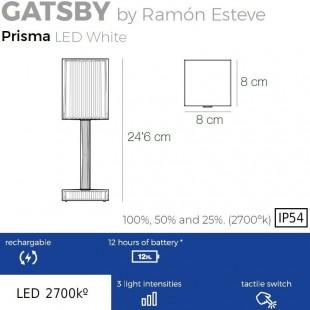 GATSBY LAMPE À BATTERIE PRISMA DE VONDOM