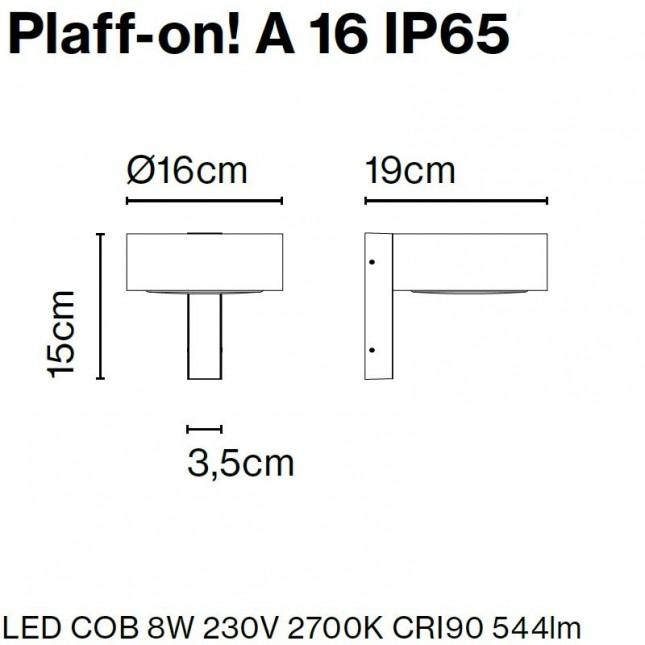 PLAFF-ON! APPLIQUE IP65 DE MARSET