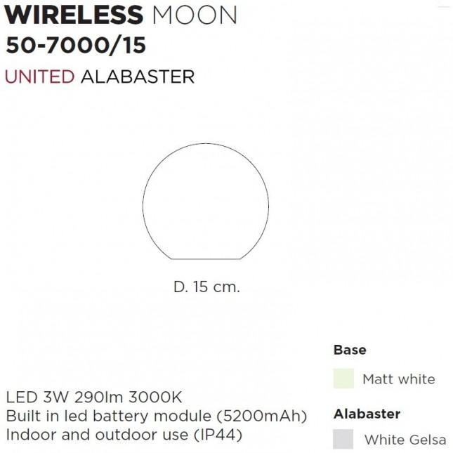 MOON WIRELESS DE UNITED ALABASTER