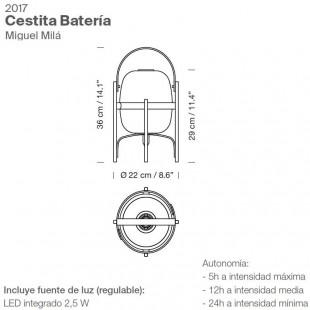 CESTITA BATERÍA BY SANTA & COLE