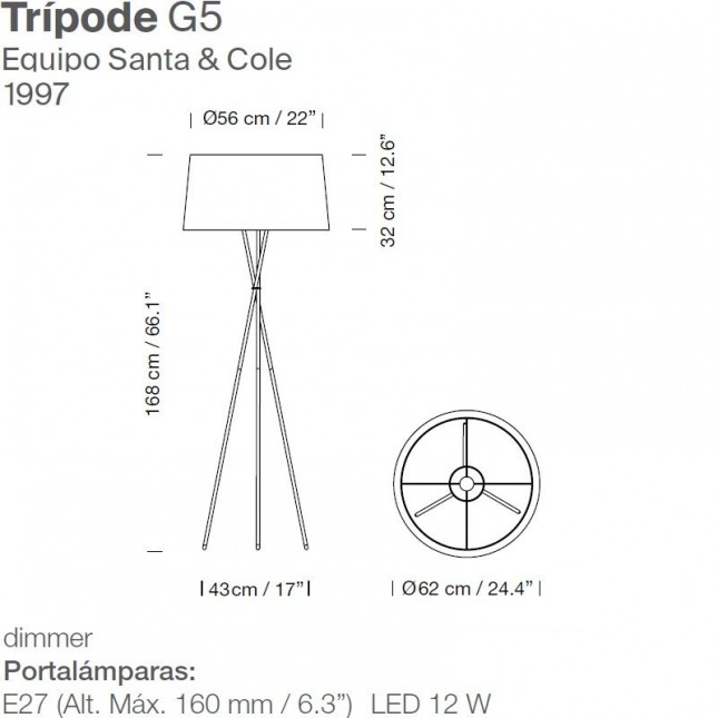 TRIPODE G5 BY SANTA & COLE
