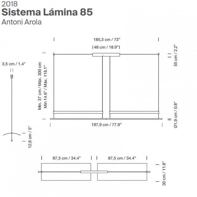 SISTEMA LAMINA 85 BY SANTA & COLE