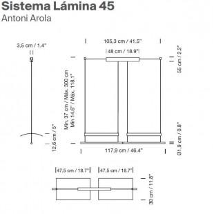 SISTEMA LAMINA 45 BY SANTA & COLE