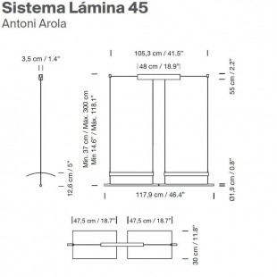SISTEMA LAMINA 45 DE SANTA & COLE