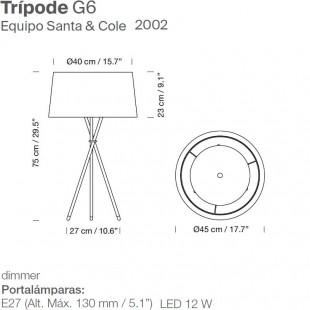 TRIPODE G6 DE SANTA & COLE